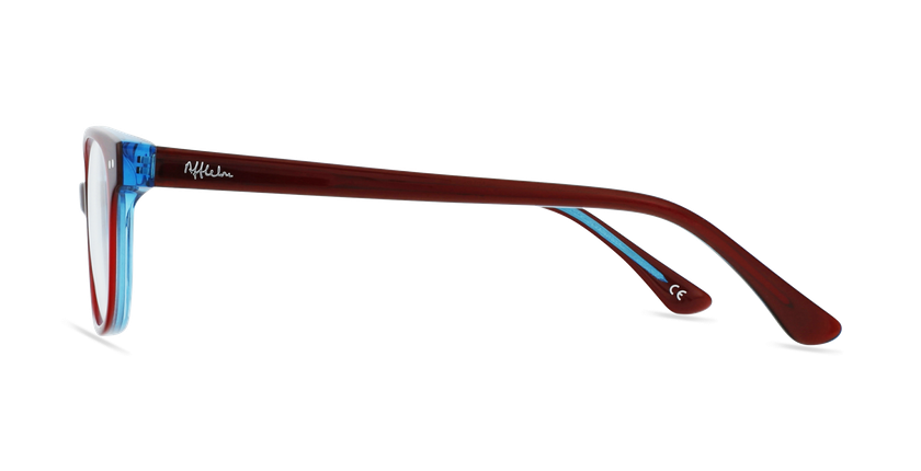 Lunettes de vue enfant MARCEL rouge/bleu - Vue de côté