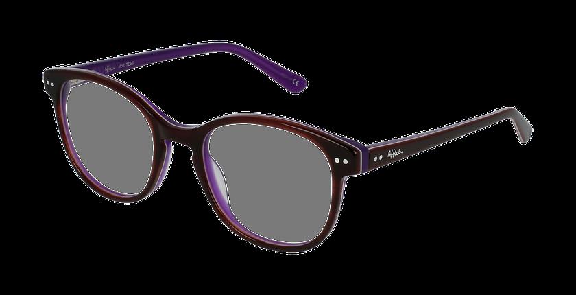 Lunettes de vue enfant TESS écaille/violet - vue de 3/4
