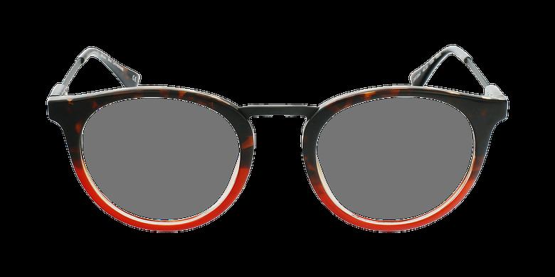 Lunettes de vue CATHERINE écaille/rouge