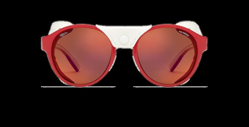 Lunettes de soleil femme FLOCON rouge - Vue de face