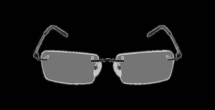 Lunettes de vue homme IDEALE-07 noir - Vue de face