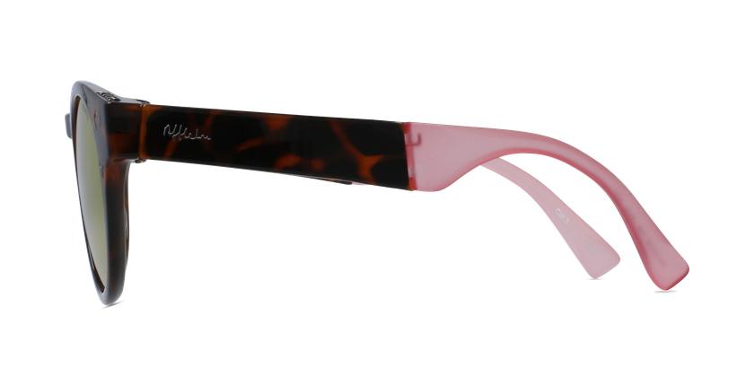 Lunettes de soleil femme SLALOM écaille/rose - Vue de côté