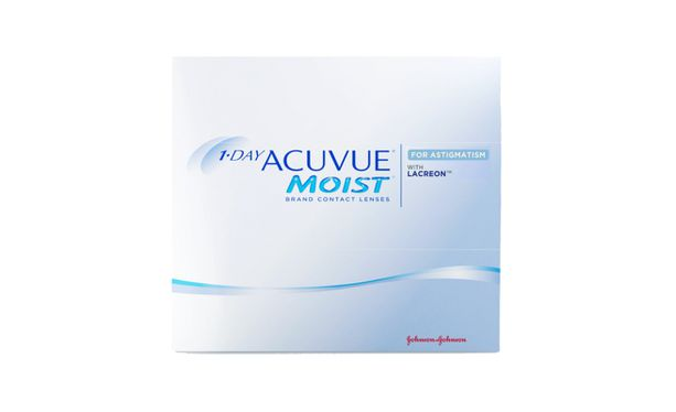 Lentilles de contact 1 Day Acuvue® Moist® for Astigmatism 90L - Vue de face