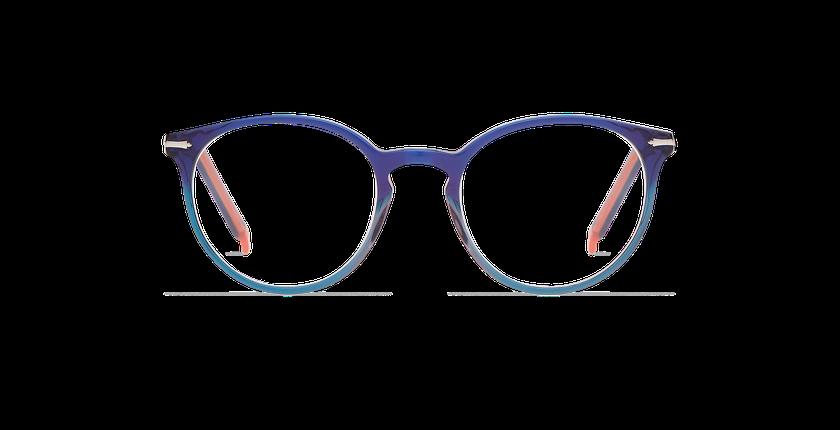 Lunettes de vue femme OYONNAX bleu/vert - Vue de face