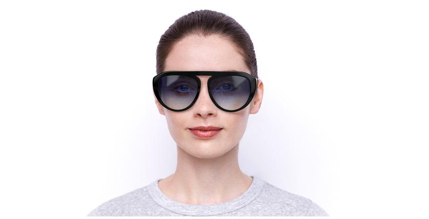 Lunettes de soleil femme VS0021 noir - Vue de face