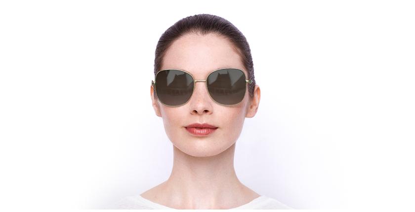 Lunettes de soleil femme SK0181 doré - Vue de face