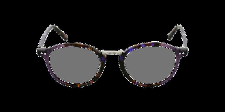 Lunettes de vue BRAHMS écaille/violetVue de face