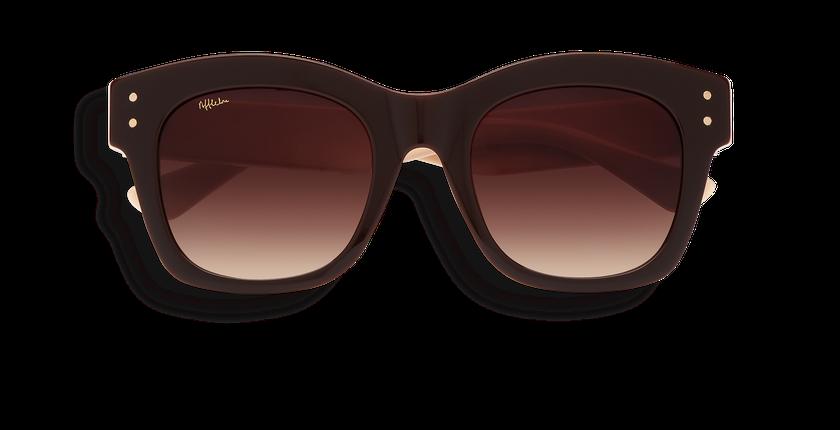 Lunettes de soleil femme ORNELLA marron - Vue de face