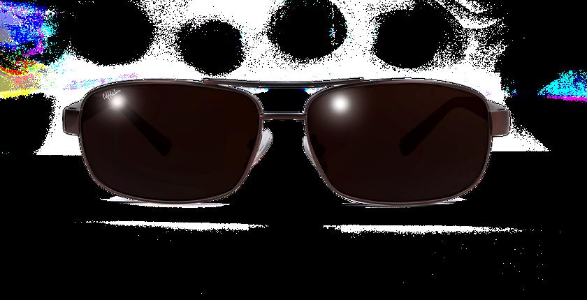 Lunettes de soleil homme ALFREDO marron - Vue de face