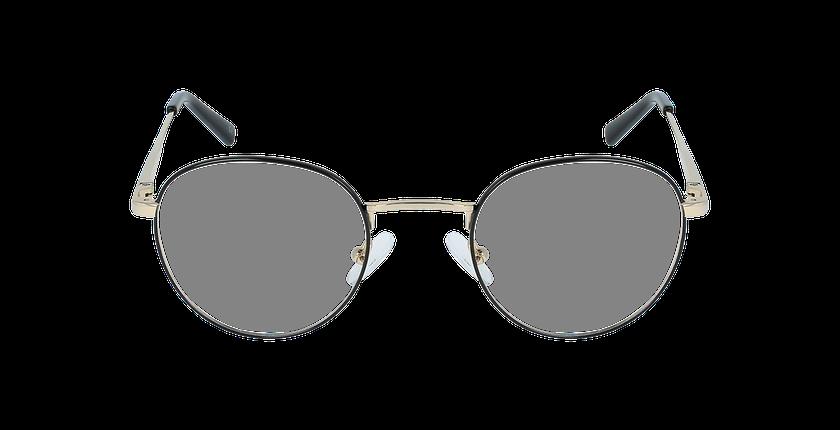 Lunettes de vue homme MARIN noir/doré - Vue de face