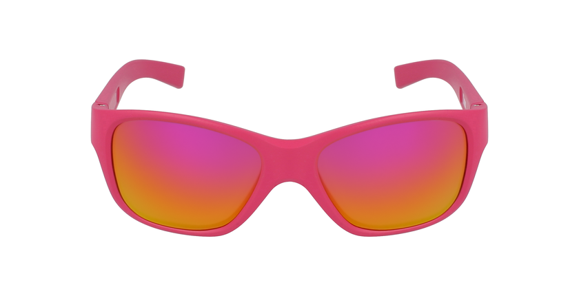 Lunettes de soleil enfant TURN rose - Vue de face