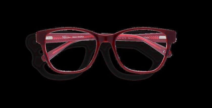 Lunettes de vue femme KIERA rouge - Vue de face