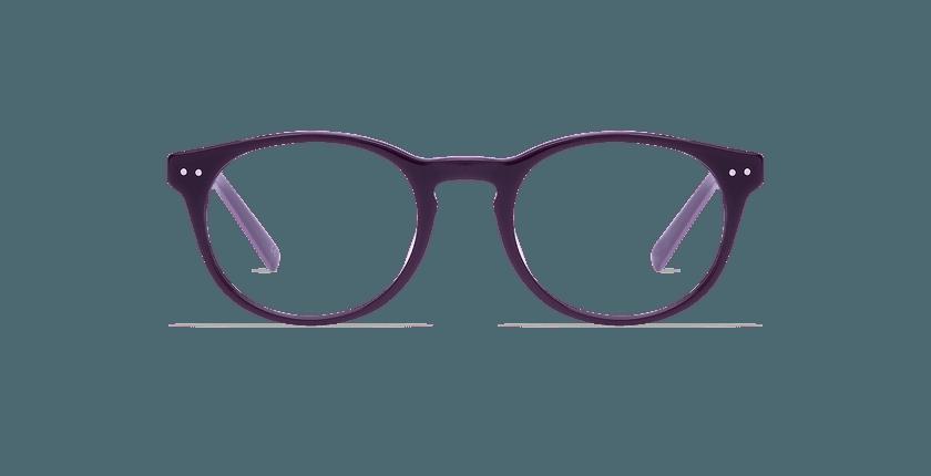 Lunettes de vue homme RUBEN violet - Vue de face