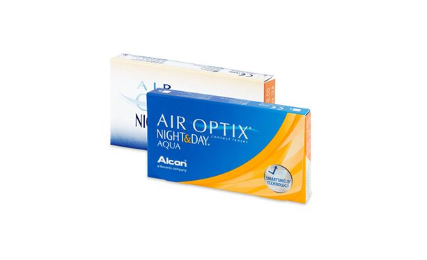Lentilles de contact Air Optix Aqua Night Day 6,4 6L - Vue de face