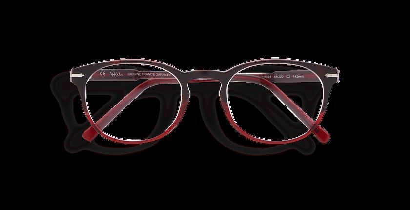 Lunettes de vue homme CHAMPAGNOLE rouge/écaille - Vue de face
