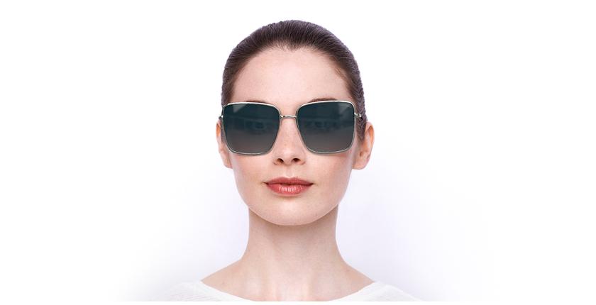 Lunettes de soleil femme HEATHER argenté - Vue de face