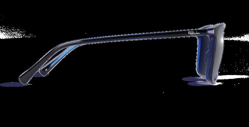 Lunettes de soleil homme SILVIO noir/bleu - Vue de côté