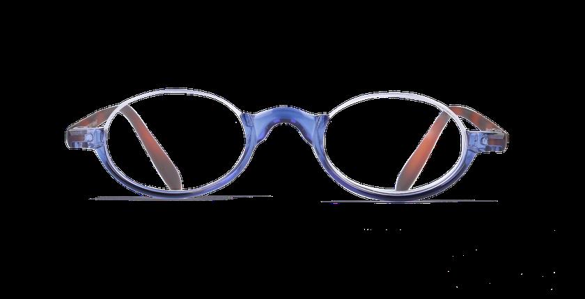 Lunettes de vue FO1 bleu - Vue de face