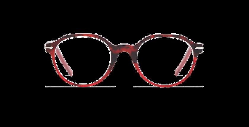 Lunettes de vue homme MOREZ écaille/rouge - Vue de face