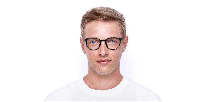 Lunettes de vue homme VPL883 marron - Vue de face