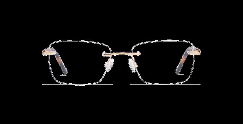 Lunettes de vue homme LIGHT TONIC doré - Vue de face