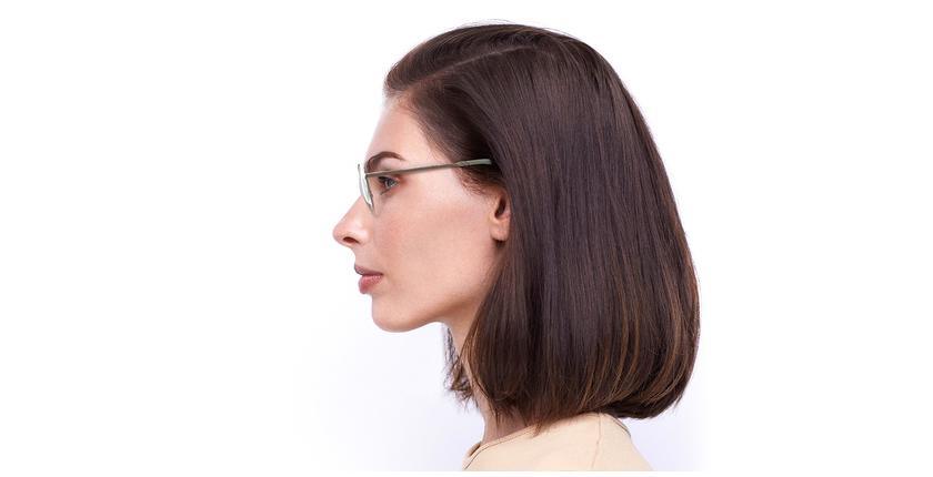Lunettes de vue femme LISSOU blanc/doré - Vue de côté