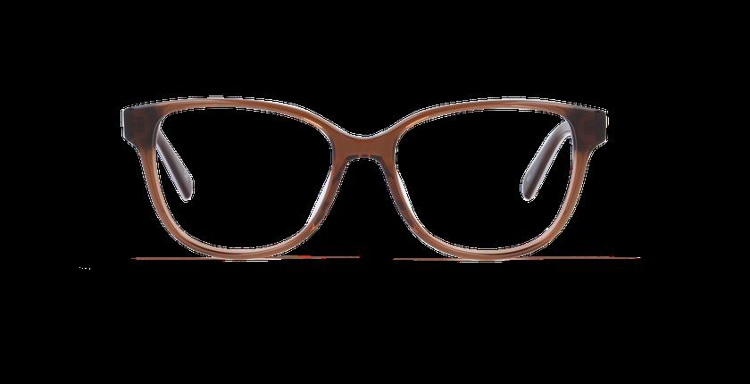 Lunettes de vue femme LAORA marron/marron - Vue de face