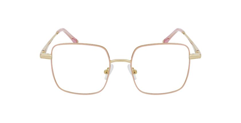 Lunettes de vue femme MAGIC 94 rose/doré - Vue de face