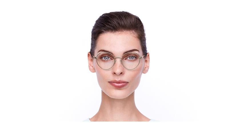 Lunettes de vue femme GU2700 doré/noir - Vue de face