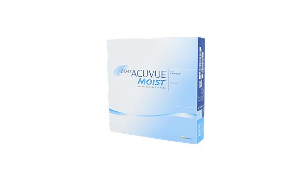 Lentilles de contact 1 Day Acuvue Moist 90L - Vue de face