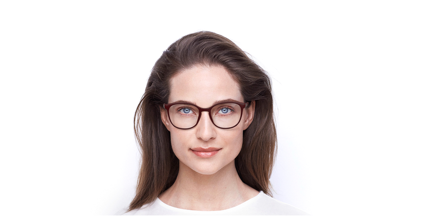 Lunettes de vue femme RZERO5 rouge - Vue de face