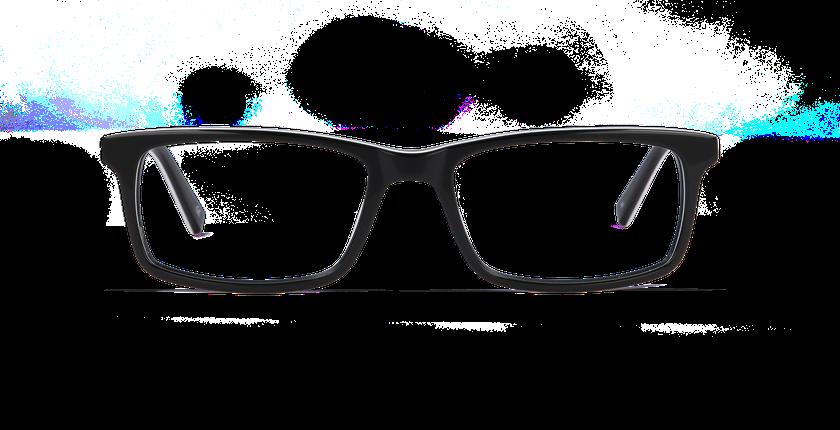 Lunettes de vue homme LEON noir - Vue de face