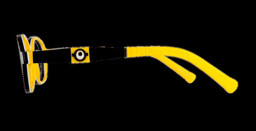 Lunettes de vue enfant CARL2 noir/jaune - Vue de côté