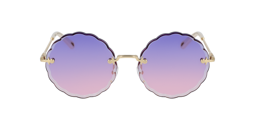 Lunettes de soleil femme CE142S violet/doré - Vue de face