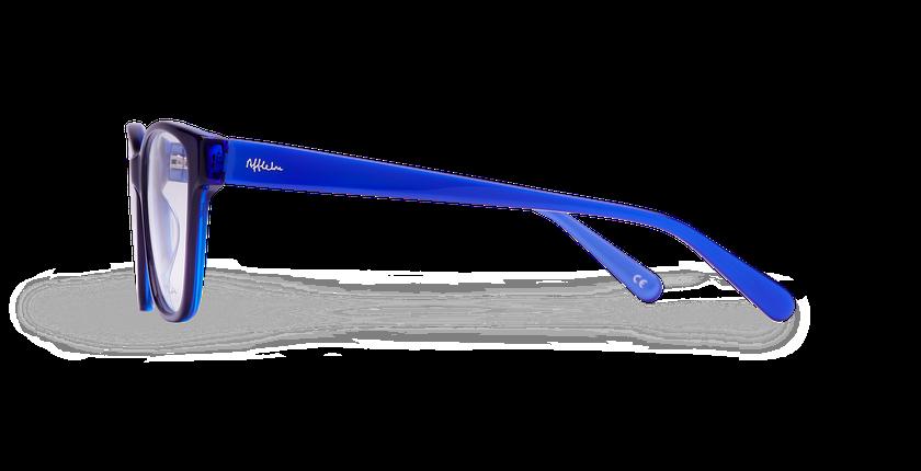 Lunettes de vue femme KIERA bleu - Vue de côté
