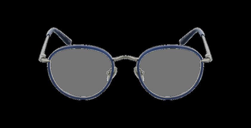 Lunettes de vue SHUBERT argenté/bleu - Vue de face