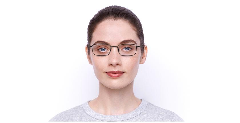 Lunettes de vue femme RZERO7 noir - Vue de face