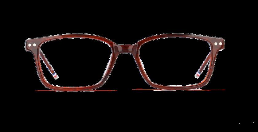 Lunettes de vue homme DIBETOU marron - Vue de face