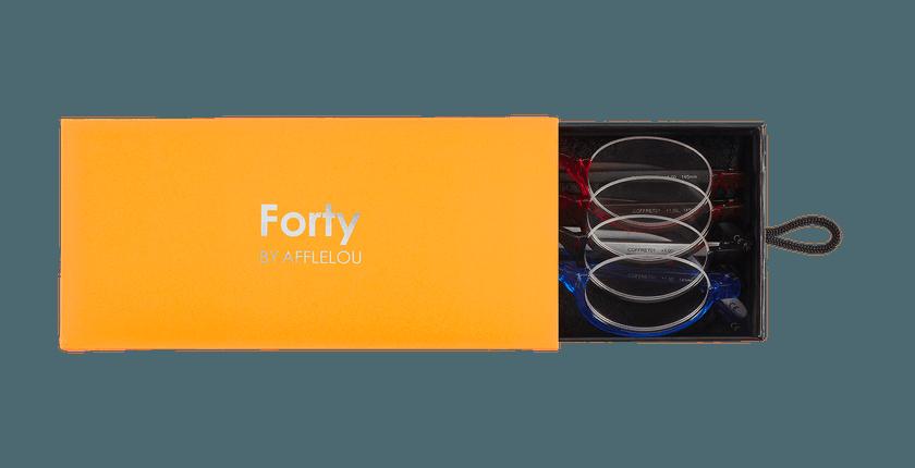 Lunettes de vue FORTY COFFRET 01 orange - Vue de face