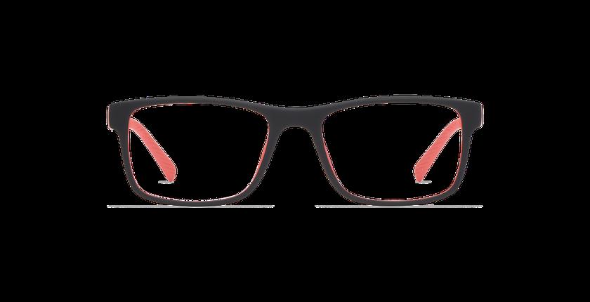 Lunettes de vue JUMP noir/rouge - Vue de face