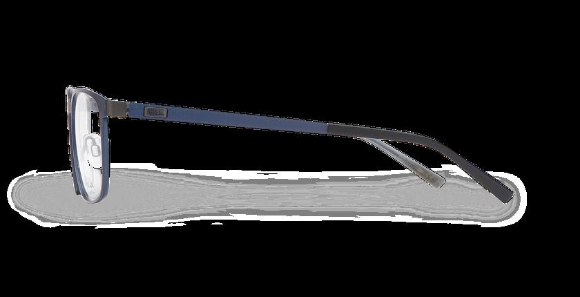 Lunettes de vue homme ALPHA17 bleu/gris - Vue de côté