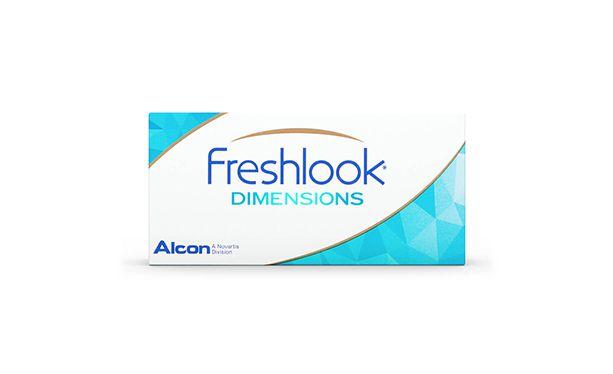 Lentilles de contact FreshLook Dimensions Blue 2L (sans correction) - Vue de face