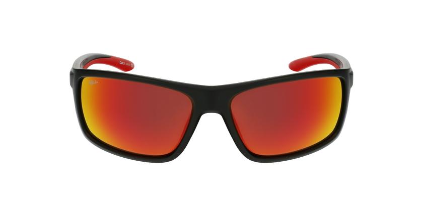 Lunettes de soleil homme IGOR POLARIZED noir/rouge - Vue de face