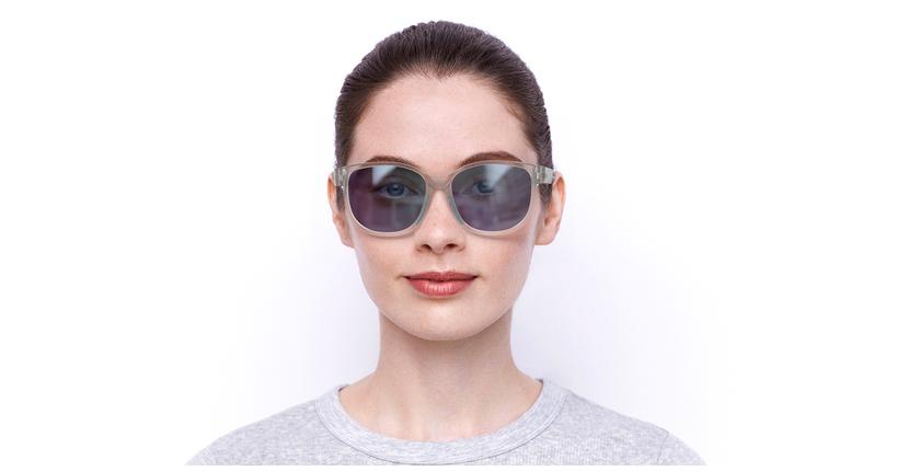 Lunettes de soleil femme Windy cristal/turquoise - Vue de face