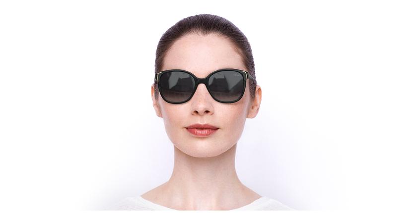 Lunettes de soleil femme CONCEPTUAL noir - Vue de face