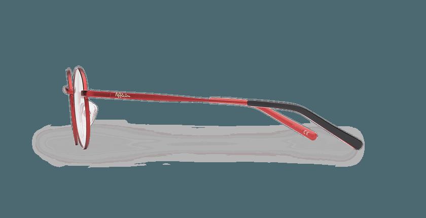 Lunettes de vue enfant LOIS rouge/noir - Vue de côté