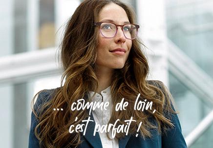 femme portant des lunettes afflelou verres progressifs