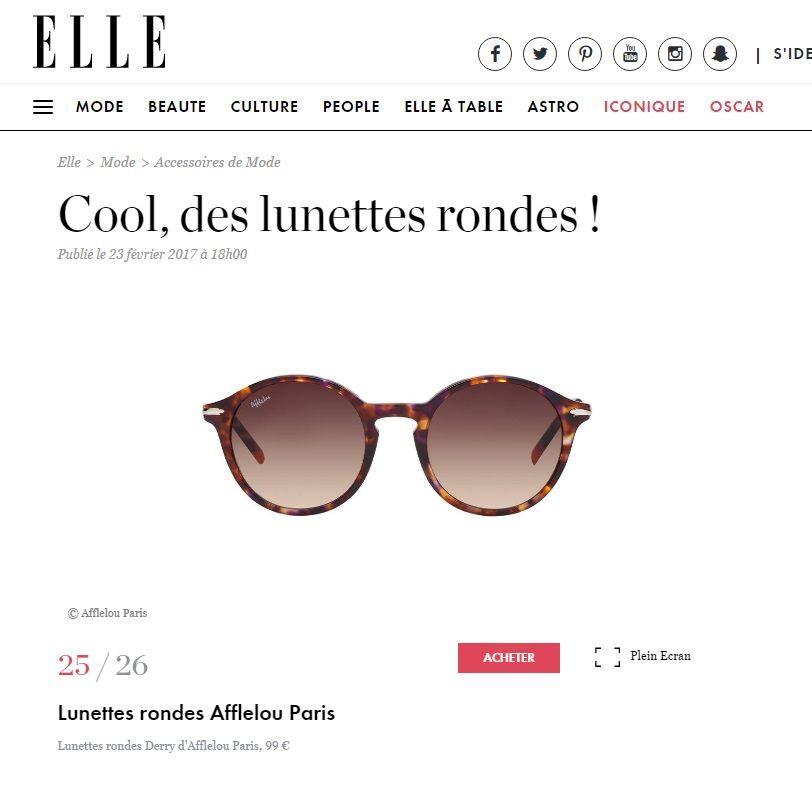 Couverture presse : Elle.fr