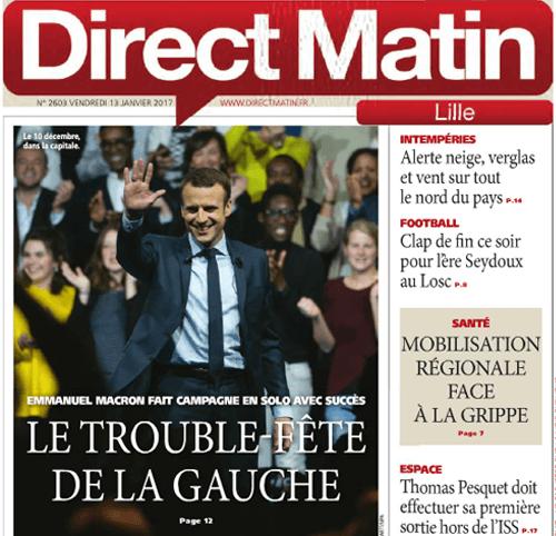 Couverture presse : Direct_Matin