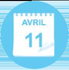 Ephemere blue calendar